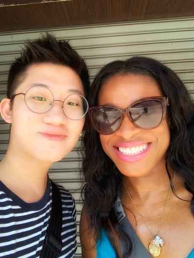Me and my new friend Brandon from Singapore